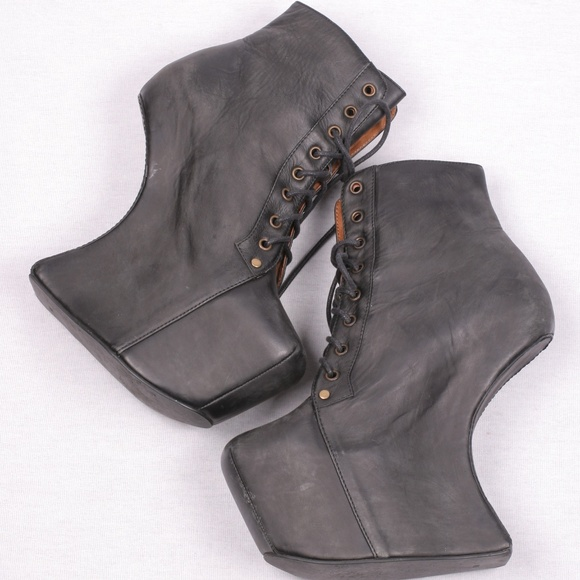 Jeffrey Campbell Shoes - Jeffrey Campbell NIGHT LITA Platform Boots Lace 8